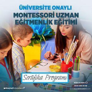 montessori uzmanlık eğitimi sertifikası