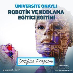 robotik ve kodlama formatörlük eğitimi sertifikası