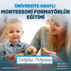 montessori formatörlük eğitimi sertifikası