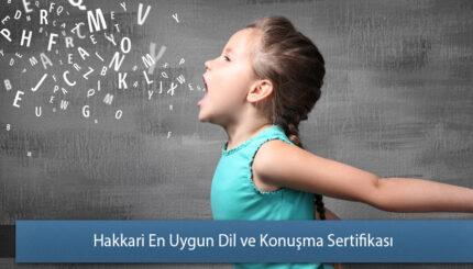 Hakkari En Uygun Dil ve Konuşma Sertifikası