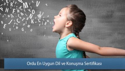 Ordu En Uygun Dil ve Konuşma Sertifikası