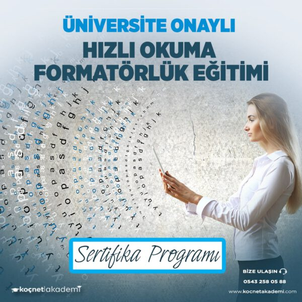 hızlı okuma formatörlük eğitimi sertifikası