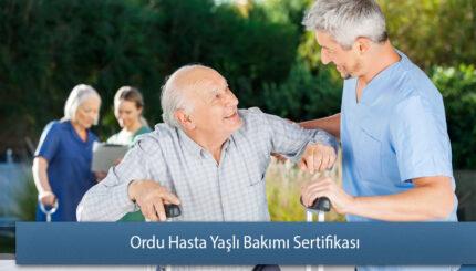 Ordu Hasta Yaşlı Bakımı Sertifikası