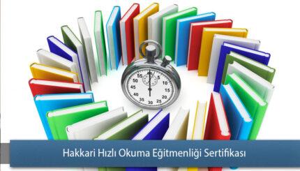 Hakkari Hızlı Okuma Eğitmenliği Sertifikası