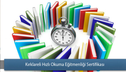 Kırklareli Hızlı Okuma Eğitmenliği Sertifikası