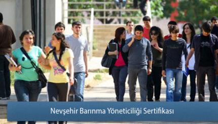 Nevşehir barinma Yöneticiliği Sertifika