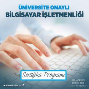 bilgisayar operatörlüğü eğitimi sertifikası
