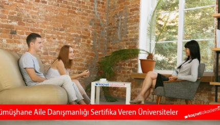 Gümüşhane Aile Danışmanlığı Sertifika Veren Üniversiteler